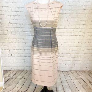 Calvin Klein blush & gray cap sleeves sheath dress